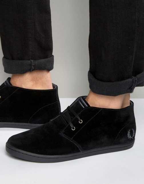 Fred Perry Byron Mid Suede Trainer