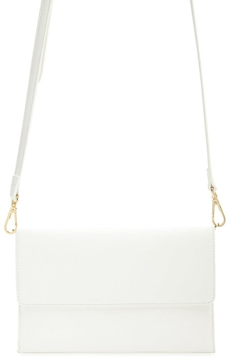 Forever21 Forever 21 Faux Leather Crossbody , White Crossbody Bag