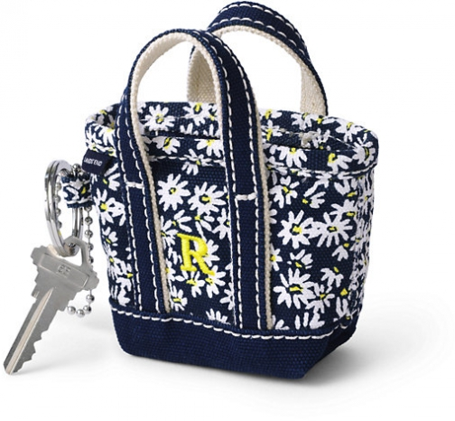 Lands' End Canvas Keychain - Lands' End - Blue Tote