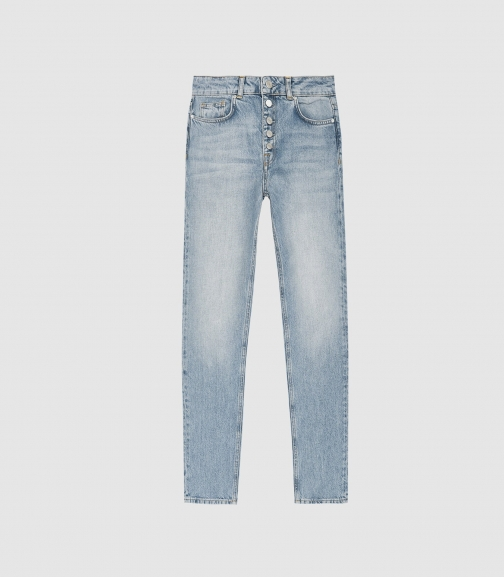 Reiss Blake - Mid Rise Blue, Womens, Size 27 Cropped Jeans