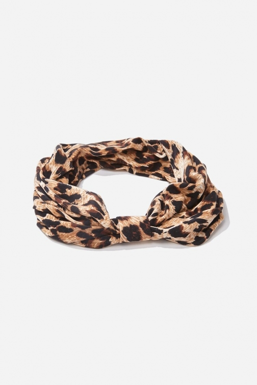 Forever21 Forever 21 Leopard Print Headwrap , Brown/multi Headwear