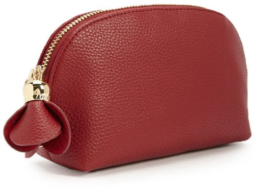 Forever21 Forever 21 Faux Leather Half-Moon Burgundy Pouch