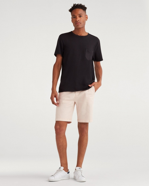 """7 For All Mankind Men's 9"""" Inseam Short Faded Pink Chino"""
