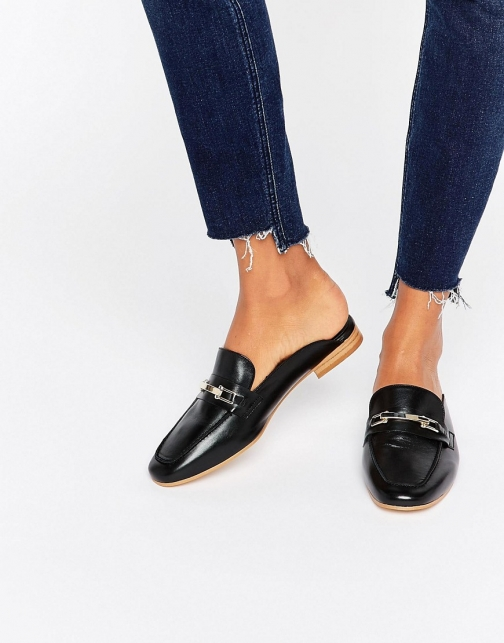 Faith Backless Leather Loafer