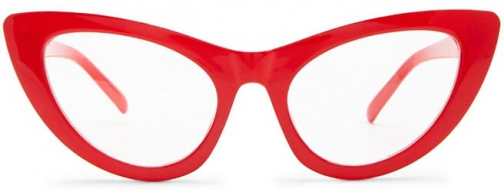 Forever21 Forever 21 Solid Cat-Eye Readers Red/clear Eyewear