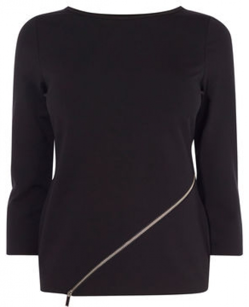 Karen Millen Zip Front Top Shirt