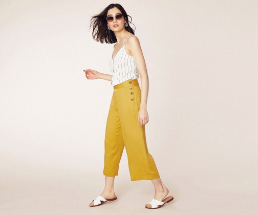 Oasis Button Side Trousers Trouser