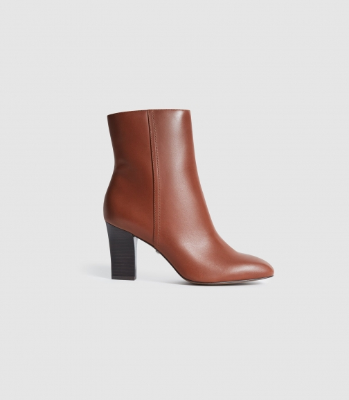 Reiss Ruby - Leather Tan, Womens, Size 3 Ankle Boot