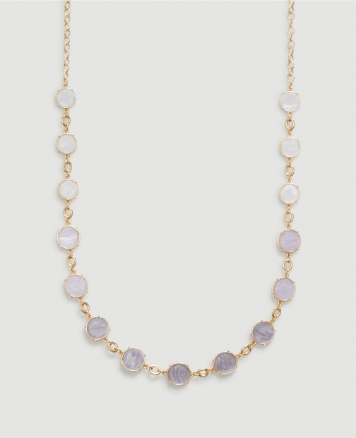 Ann Taylor Factory Marbleized Layering Necklace