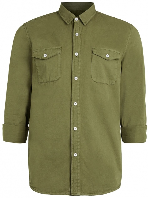 Topman Men's Topman Long Sleeve Twill Shirt