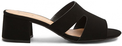 Forever21 Forever 21 Faux Suede Mules , Black Shoes