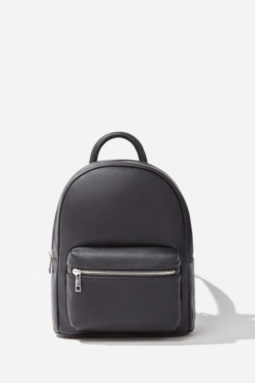 Forever21 Forever 21 Faux Leather , Black Backpack