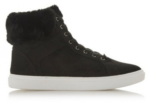 Head Over Heels By Dune Black 'Ello' Ladies Trainer