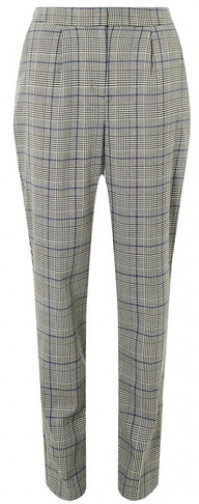 Dorothy Perkins Tall Check Cobalt Grey Trousers Trouser