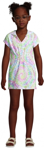 Lands' End Girls Short Sleeve Hooded Terry Cloth Cover-Up - Lands' End - White - XXS Swimsuit