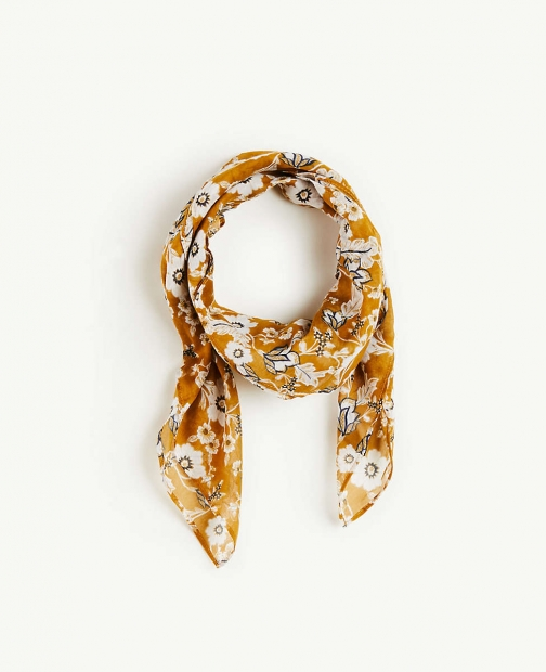 Ann Taylor Floral Square Scarf