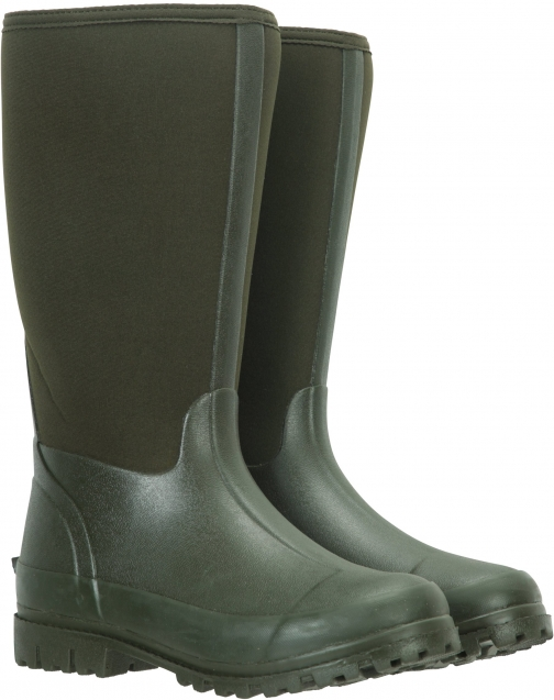 Mountain Warehouse Womens Long Neoprene Mucker - Green Boot