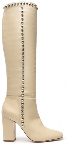 Schutz Shoes Vienna Leather - 5.5 Almond Buff Leather Boot