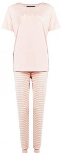 Dorothy Perkins Tall Pink 'Let Me Sleep' Set Pyjama