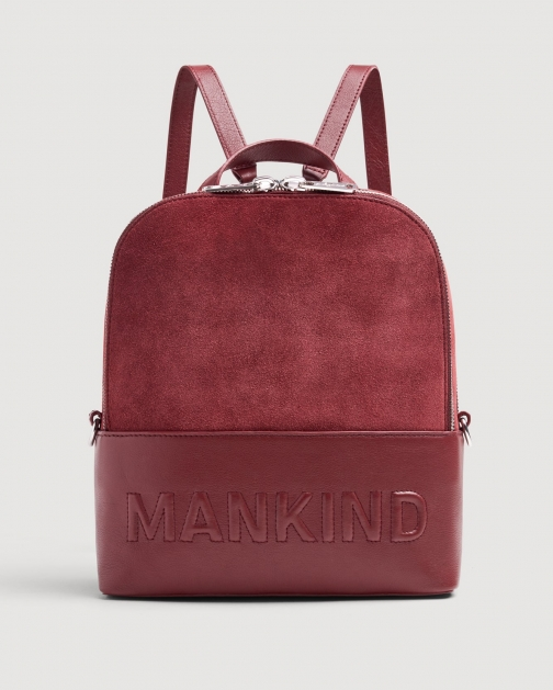7 For All Mankind Mankind Burgundy Backpack
