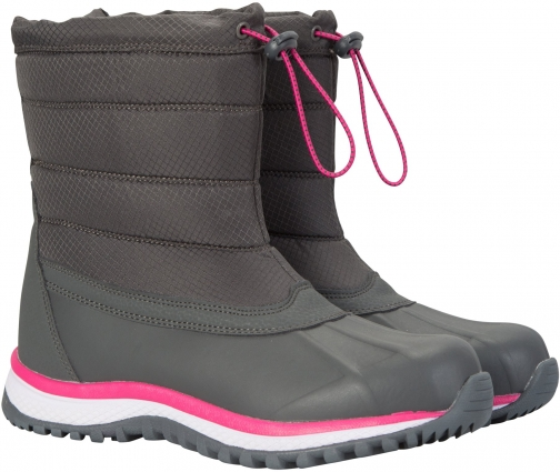 Mountain Warehouse Glacier Pull On Womens Snowboots - Grey Snow Boot