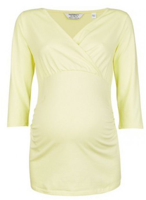 Dorothy Perkins Maternity Lemon Ruched Wrap Top