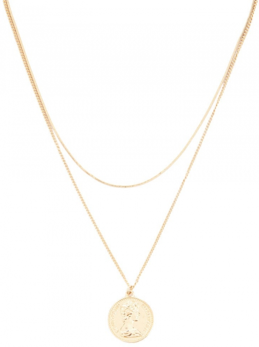 Forever21 Forever 21 Layered Coin , Gold Pendant
