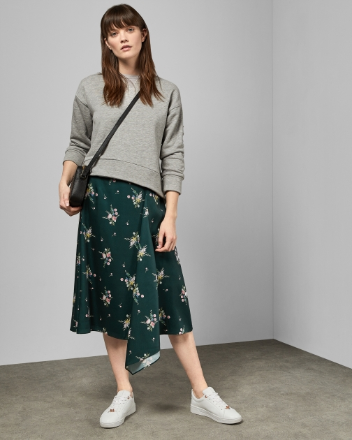 Ted Baker Flourish Asymmetric Skirt