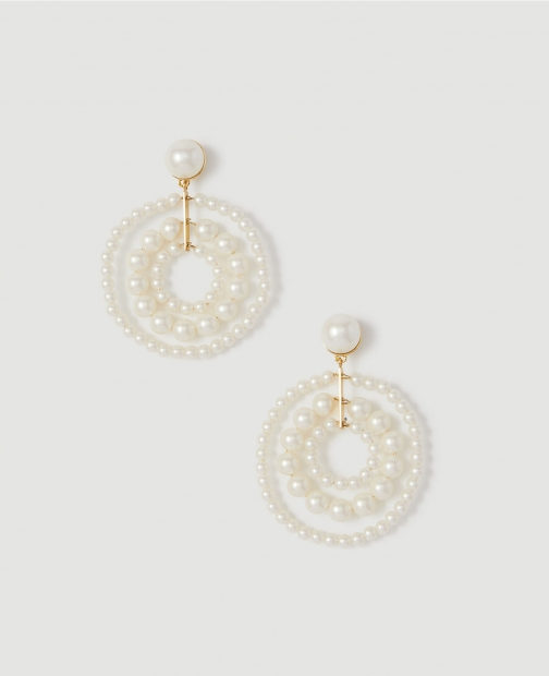 Ann Taylor Pearlized Statement Earring