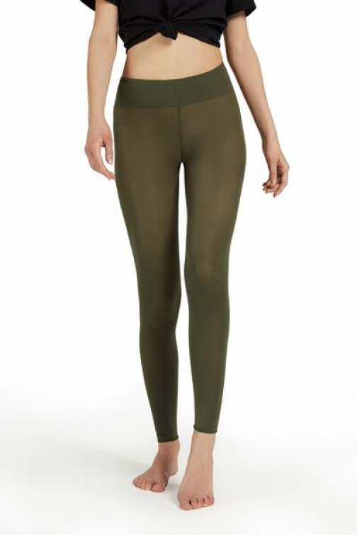 Calzedonia Soft Touch Total Comfort Opaque Woman Green Size M/L Legging