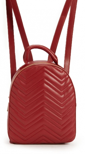 Forever21 Forever 21 Quilted Chevron Burgundy Backpack