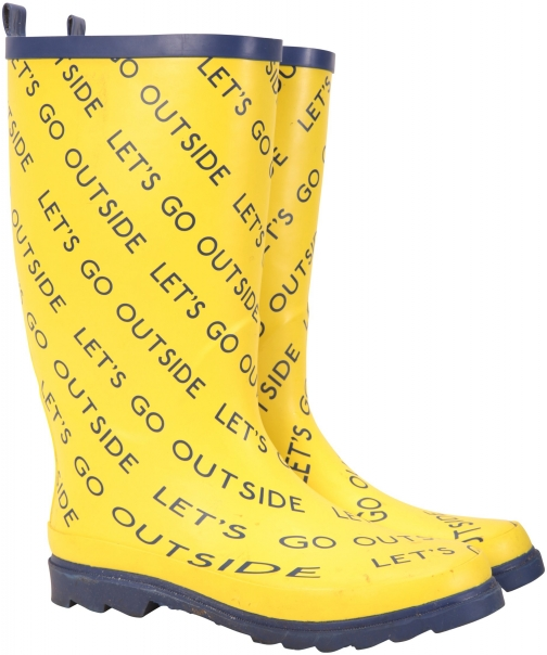 Mountain Warehouse Kit Neale Festival Mens Rubber - Yellow Welly