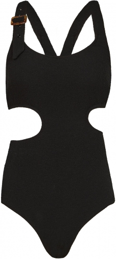 Reiss Salma - Textured Cut Out Black, Womens, Size XS Swimsuit