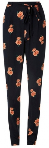Dorothy Perkins Womens **Tall Navy Floral Joggers- Blue, Blue Athletic Pant