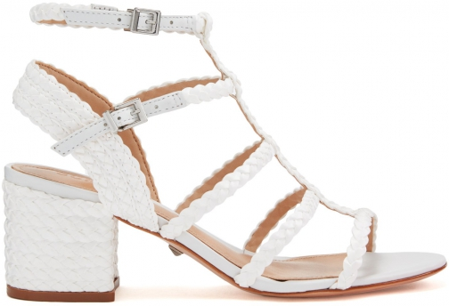 Schutz Shoes Rosalia Sandal - 7 White Leather Sandals