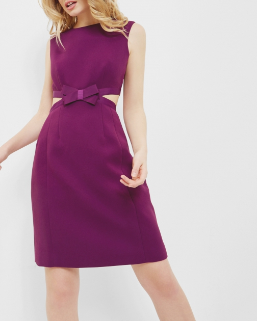 Ted Baker Cut Out Bow Dress