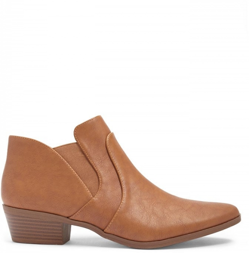 Forever21 Forever 21 Qupid Faux Leather Booties , Camel Boot