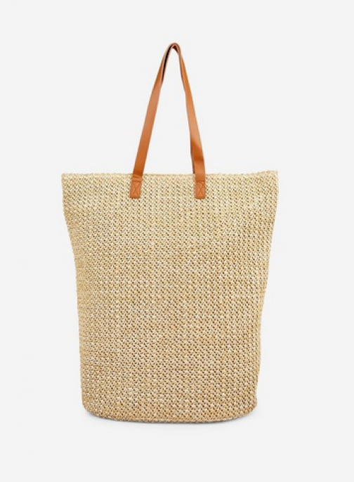 Pieces Natural 'Bilana' Shopper Bag