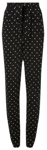 Dorothy Perkins Womens **Tall Black Spotted Joggers- Black, Black Athletic Pant