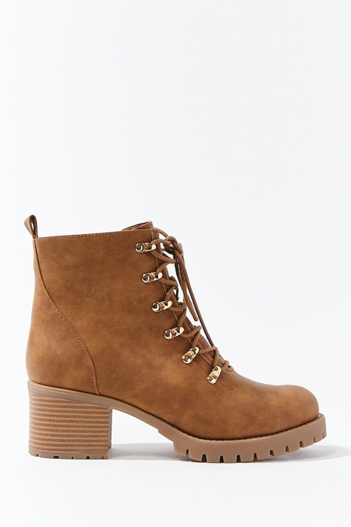 Forever21 Forever 21 Faux Nubuck , Tan Ankle Boot