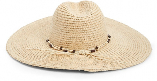Forever21 Forever 21 Wide-Brim Straw , Natural/brown Fedora Hat
