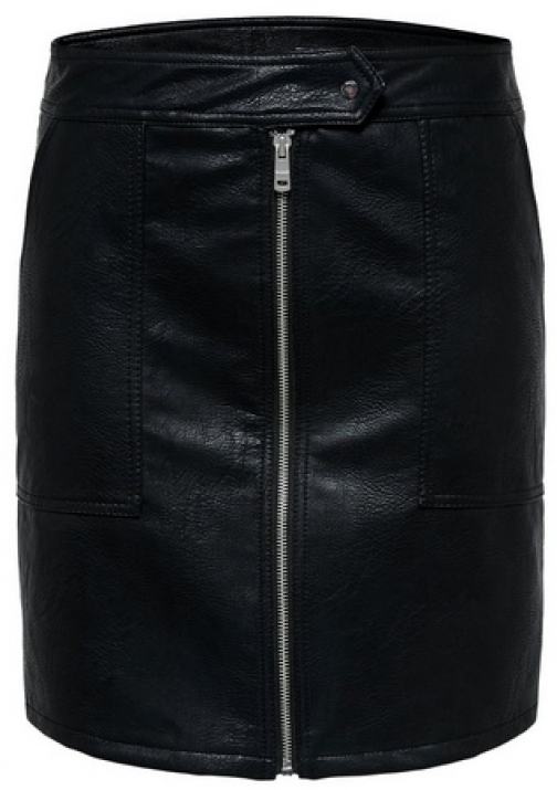 Only Black Faux Leather Skirt