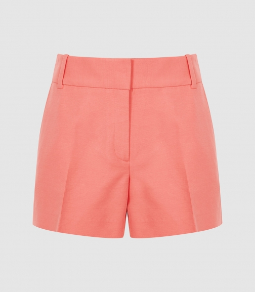 Reiss Lyla - Tailored Coral, Womens, Size 4 Short