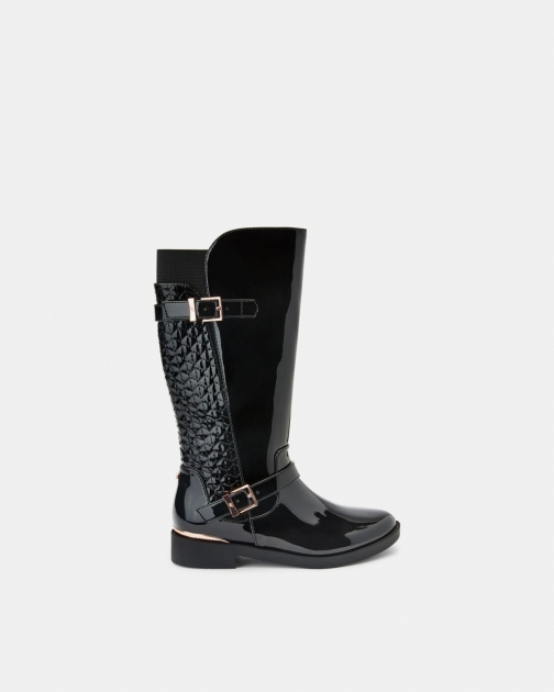 Ted Baker Patent Buckled Knee-high Boots Knee High Boots