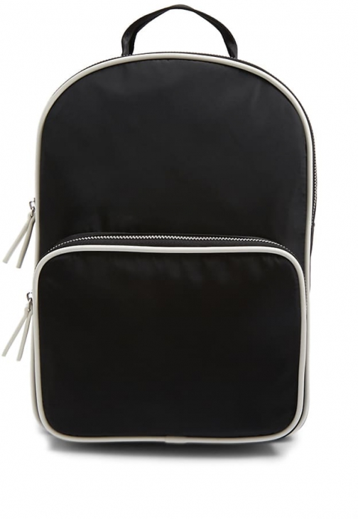 Forever21 Forever 21 Faux Leather Trim Black Backpack