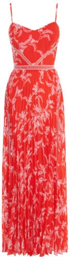 Karen Millen Pleated Floral Maxi Dress