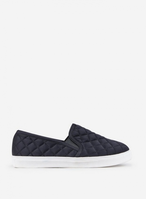 Dorothy Perkins Black Quilted Trainer