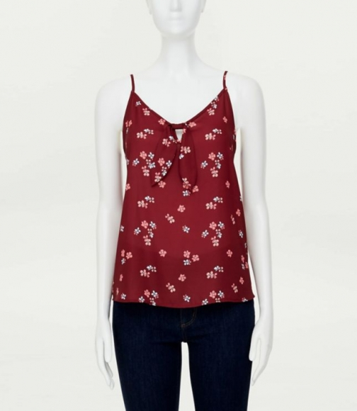 Loft Floral Knotted Cami Top
