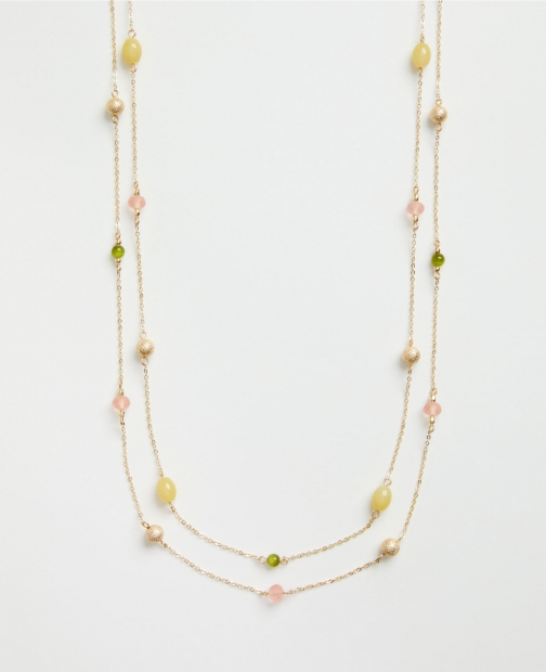 Ann Taylor Factory Layered Illusion Necklace
