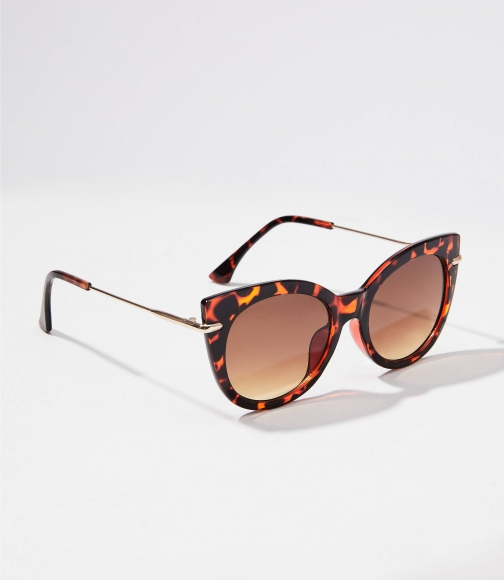 Loft Metallic Trim Cateye Sunglasses